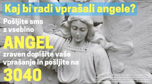 angelsko sms vedeževanje ANGEL na 3040